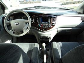 Kisbusz kölcsönzés Mazda MPV Műszerfal